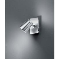 LED-katto/seinäspotti Trio Narcos 120x75 mm, harjattu teräs