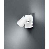 LED-katto/seinäspotti Trio Narcos 120x75 mm, valkoinen