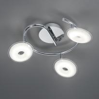 LED-Kattospotti Trio Pilatus, Ø 250x160 mm, 3-osainen kromi
