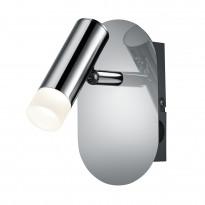 LED-seinäspotti Trio Zidane, 80x150x140 mm, kromi