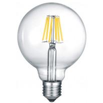 LED-Lamppu Trio E27, filament iso globe 6W, 810lm 2700K switch dimm