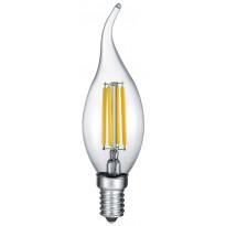 LED-Lamppu Trio E14, filament liekki 4W, 470lm 2700K switch dimm