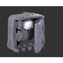 Ulkopistorasiaboksi Trio 200x190x200 mm, kahdella pistorasialla ja ajastimella