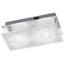 LED-seinävalaisin Trio Mara, 240x120mm, kromi