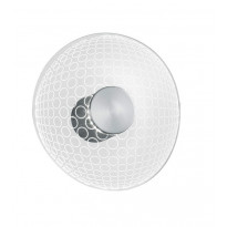 LED-seinävalaisin Trio Halma Ø200 mm, harjattu teräs pyöreä