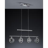 LED-riippuvalaisin Trio Trio Prater, 940x75x1730 mm, 4-osainen kromi