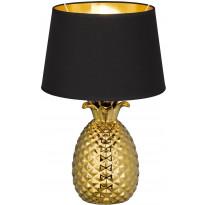 Pöytävalaisin Trio Pineapple, ø280x430mm, kulta/musta