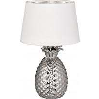 Pöytävalaisin Trio Pineapple, ø280x430mm, hopea/valkoinen