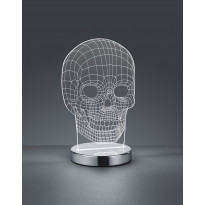 LED-pöytävalaisin Trio Skull, 145x215x120mm, kromi