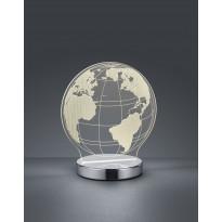 LED-pöytävalaisin Trio Globe, 175x200x120mm, kromi