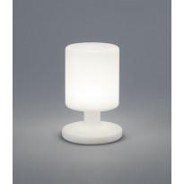 LED-pöytävalaisin Trio Barbados, Ø 170x255mm, valkoinen