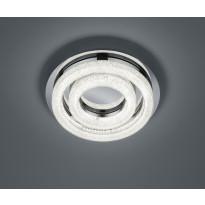 LED-kattovalaisin Trio Chalet Ø 340x77 mm, kromi