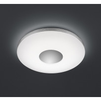 LED-kattovalaisin Trio Castor, Ø 340x70 mm, kromi