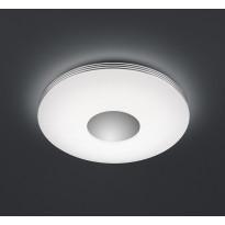 LED-kattovalaisin Trio Castor, Ø 340x70 mm, kromi