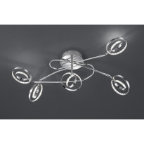 LED-kattovalaisin Trio Prater, 620x420x280 mm, 5-osainen kromi