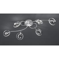 LED-kattovalaisin Trio Prater, 950x550x230 mm, 6-osainen kromi