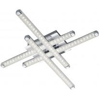 LED-kattovalaisin Trio Street, 500x70x500mm, kromi, kristalliefekti