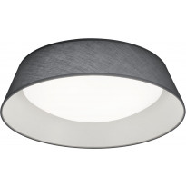 LED-kattovalaisin Trio Ponts, ø450x120mm, harmaa