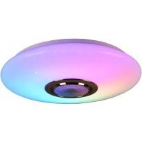 LED-kattovalaisin Trio Musica, Bluetooth-kaiutin, RGBW