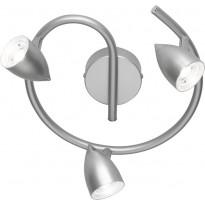 LED-kattospotti Trio Rouen, Ø 250x145 mm, titaani