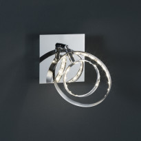 LED-seinäspotti Trio Prater, 100x185x100 mm, kromi