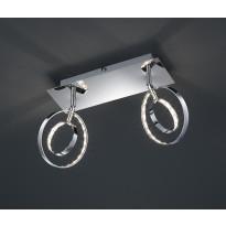 LED-seinäspotti Trio Prater, 300x190x90 mm, 2-osainen kromi