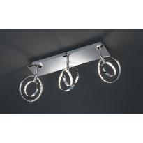LED-Kattospotti Trio Prater, 450x90x190 mm, 3-osainen kromi