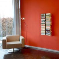 Kirjahylly 720A, 39x90x16cm, seinäkiinnitteinen, musta
