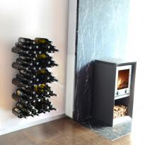 Viinipulloteline 732A, 60 pullolle, seinään