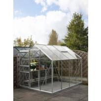 Kasvihuone SUN SyCLA68, 5 m², turvalasi/alumiini, sokkeli