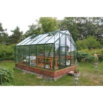 Kasvihuone SUN 128, 10 m², kennolevy/vihreä, sokkeli