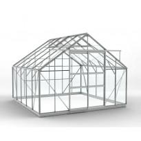 Kasvihuone SUN 812STA DD, 10 m², kennolevy/alumiini, pariovet, sokkeli