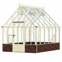 Kasvihuone Robinsons Victoria Rushmoore, 10 m², turvalasi/luonnonvalkoinen
