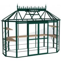 Kasvihuone Robinsons Renaissance, 6 m², turvalasi/vihreä, sokkeli