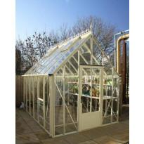 Kasvihuone Robinsons Victoria Ratcliffe, 8,5m², turvalasi/luonnonvalkoinen