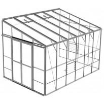 Kasvihuone SUN Herkules Bosworth, 9,8m², turvalasi/alumiini
