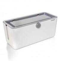 Lapsiturvallinen johtolaatikko Reer, 13,5x13,5x30,5cm, valkoinen