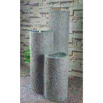 Suihkulähde LED-valoilla Chic Garden Pilarit, 100cm, grafiitti