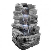 Suihkulähde LED-valoilla Chic Garden Kivet, 100 cm, grafiitti