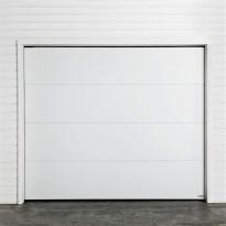 Autotallin nosto-ovi Turner 800PE, 2500x2125mm, sileä, valkoinen