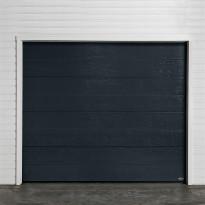 Autotallin nosto-ovi Turner 820E, 2500x2300mm, vaakaura, puukuvio, harmaa