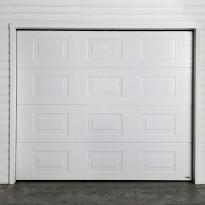Autotallin nosto-ovi Turner 830E, 2500x2300mm, peilikuvio, puukuvio, valkoinen