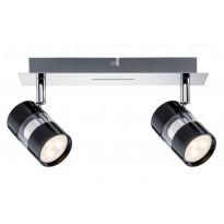 LED-kattospotti Paulmann Nevo 260x120x125 mm 2-osainen musta/kromi