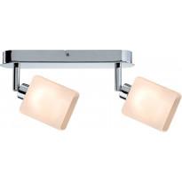 LED-kattospotti Paulmann Quad 265x105x65 mm 2-osainen kromi/valkoinen