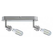 LED-kattospotti Paulmann DecoSystems 2-osainen harjattu teräs