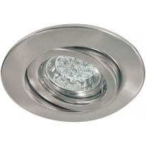 Alasvalo Quality LED 1W, suunnattava, 51mm, harjattu teräs