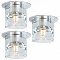 Alasvalosarja Quality Glassy Tube LED 3x1W, Ø83mm, kirkas