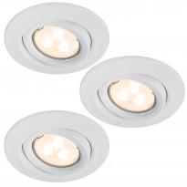 Alasvalosarja Quality LED 3x3,5W, suunnattava, 51mm, valkoinen