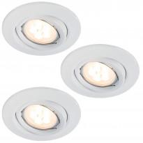 Alasvalosarja Quality LED 3x6,5W, suunnattava, 51mm, valkoinen