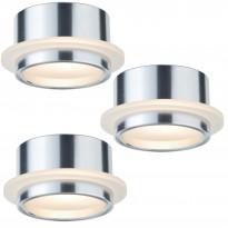 LED-alasvalosetti Paulmann Star line 3x1W Ø 46 mm 3 kpl alumiini/satiini